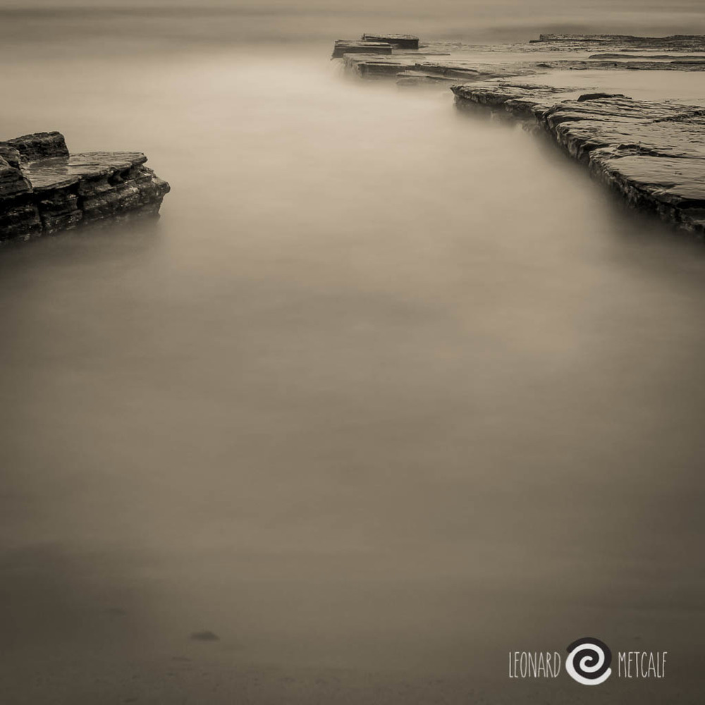 Sea scape - long exposure at dusk © Leonard Metcalf 2013