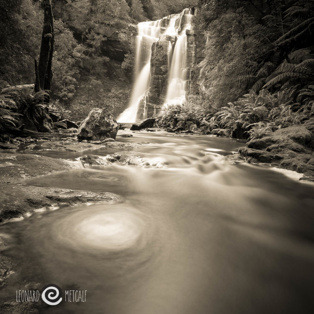 Wes Becket Falls, The Tarkine, Tasmania © Len Metcalf 2015