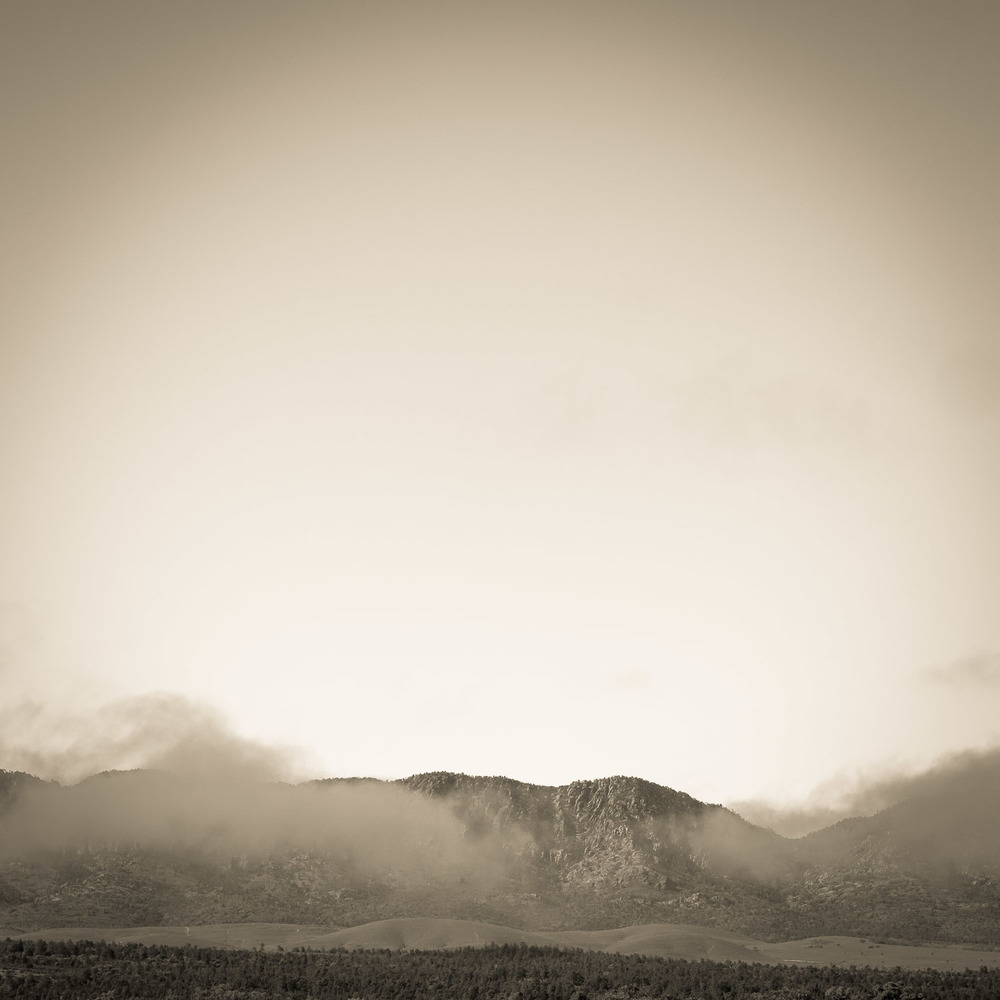 Mist graces an early morning near Wilpena Pound, the Flinders Ranges, South Australia © Len Metcalf 2015