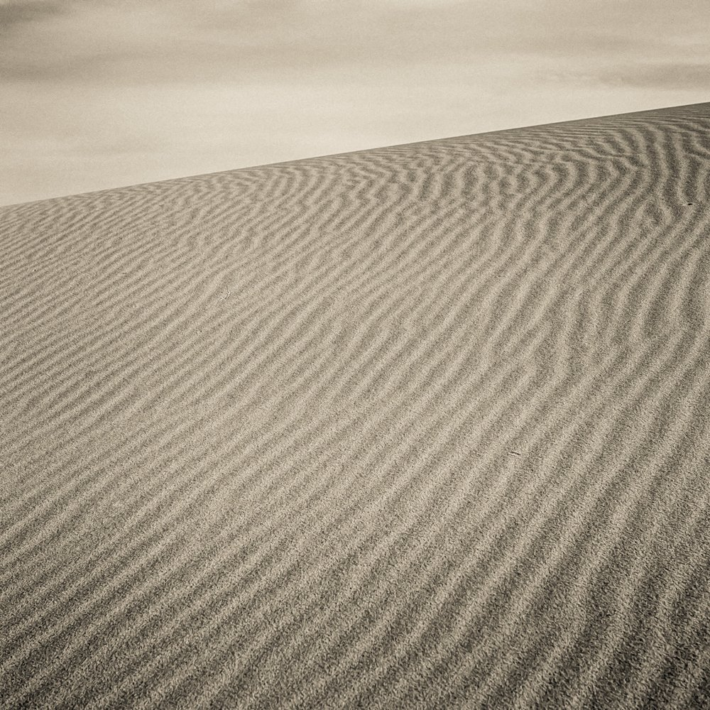 Myall Lakes Sands.  Olympus Em1.  Voigtlander 25mm f0.95 Lens.   F8 @ 1/650    Focused on the sand 1/3 division between the bottom of the frame and the sky.
