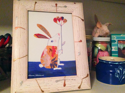 Get Well Collage Bunny framed by Diana Toledano
