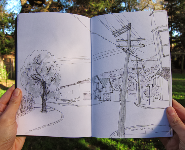 San Francisco Streets Sketch by Diana Toledano