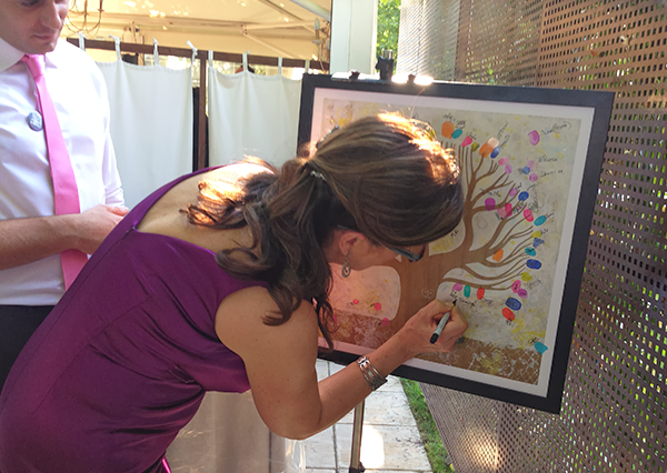 Guest at the Wedding Signing the White Tree Illustration by Diana Toledano