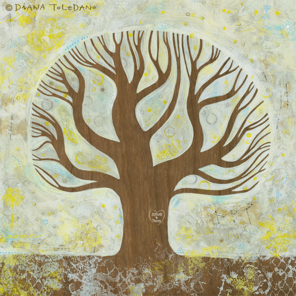 White Tree - Wedding Guest Book Illustration by Diana Toledano