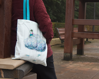 cute tote bag, design by Diana Toledano, photo by Laura Toledano