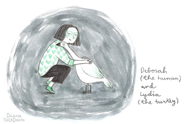 Sketch based on a photo of author Deborah Underwood