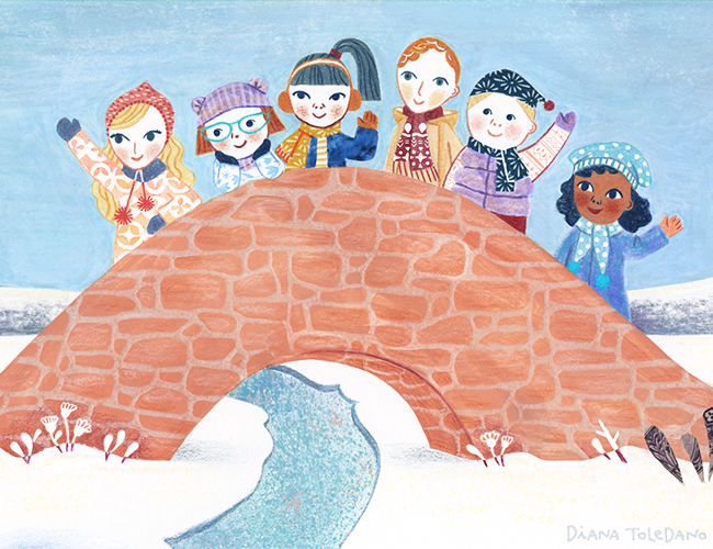 diana-toledano_snowy-day_bridge-friends.png