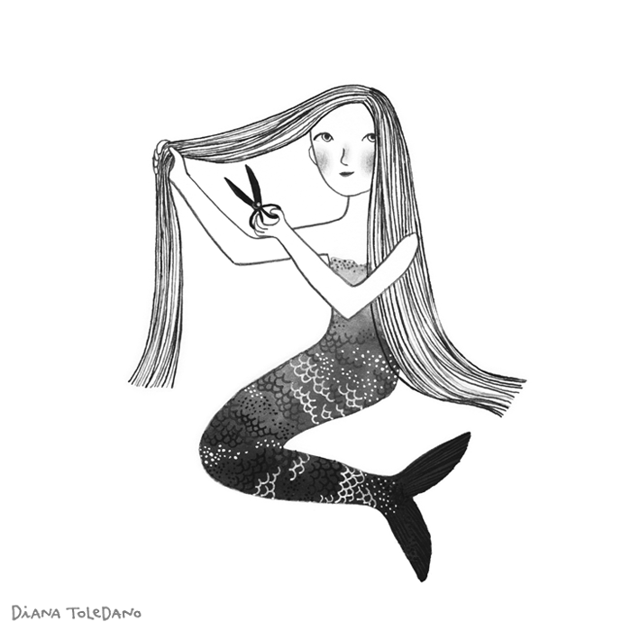 mermaid-cutting-hair_diana-toledano.png