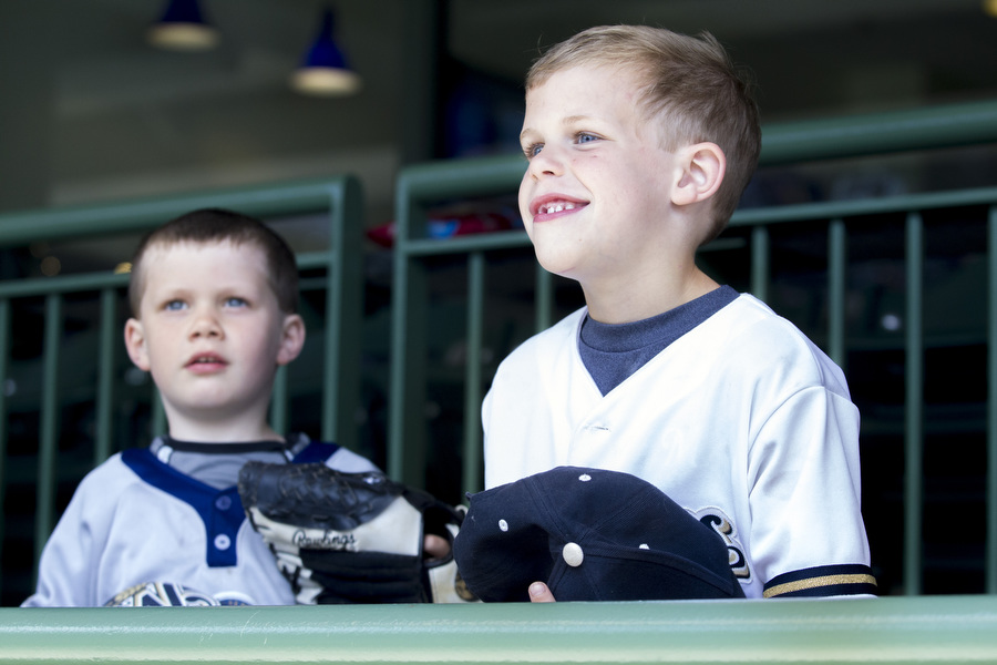Ben, right, and Andrew Bausch, are 5 and 4, respectively.