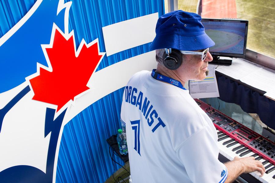Ken Kaufman plays the organ.