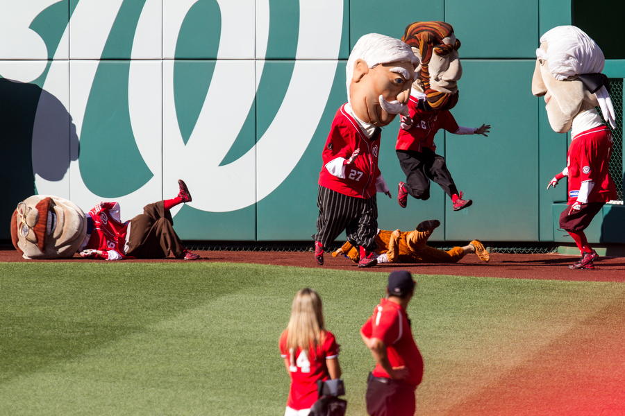 The presidential mascot race got feisty.