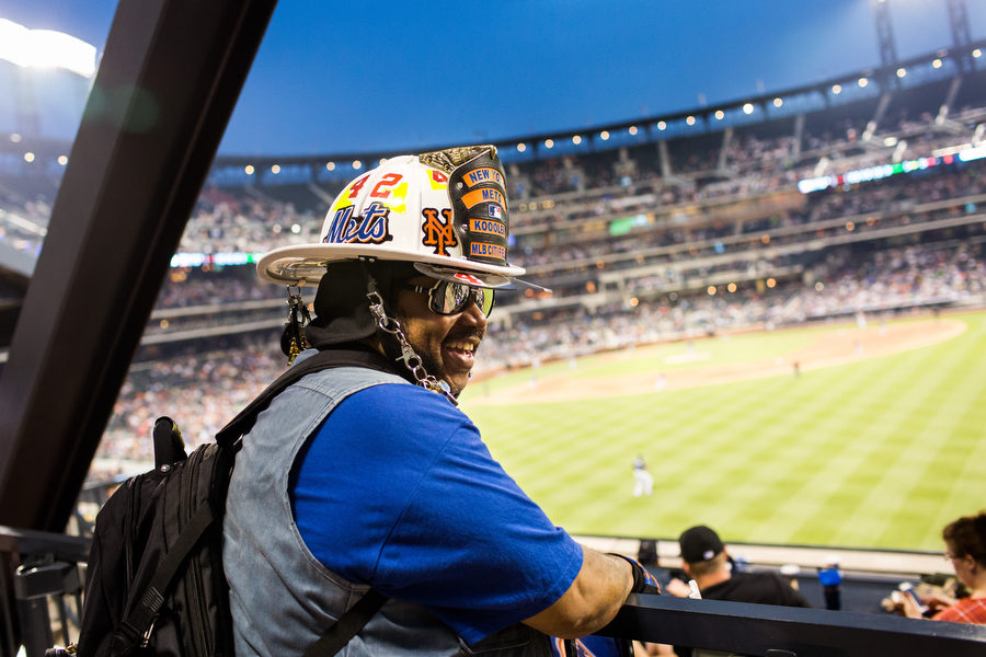 Former volunteer fireman Vernon Gibson is know at Citi Field as the New York Mets Fireman Koooler. You can usually find him on the Shea Stadium bridge. In some ways, he's like the Mets version of the New York Jets' Fireman Ed.
