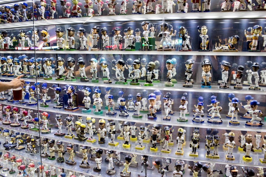 In the concourse behind home plate, there is a bobble head doll museum that contains 588 dolls from all 30 teams.