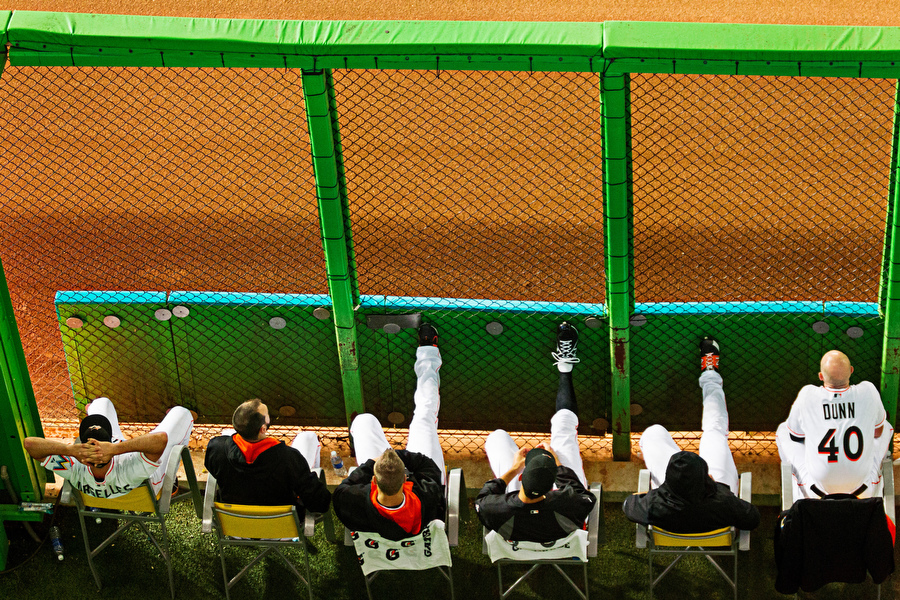 The Marlins bullpen.