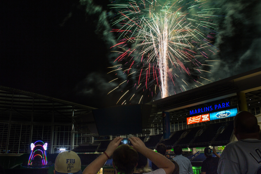 Post-game fireworks.