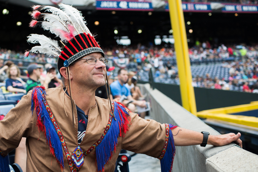 Robert has missed only 14 games at Turner Field since 1994. He wears indian garb to all the games and uses Atlanta's public transportation system to get to games. He's unsure of how he'll get to games at the new Braves stadium because of the lack of public transportation.