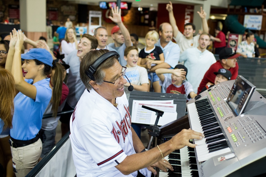 Bobby Freeman is the Diamondbacks organist. He wears number 88 for the number of keys on a keyboard. He started playing accordion in 4th grade and hasn't stopped playing music since.
