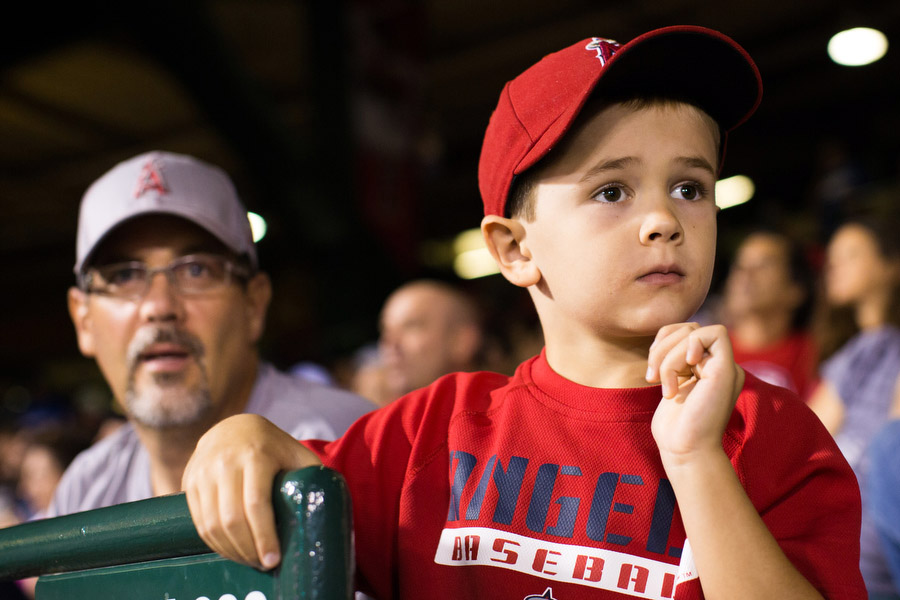 Nathan took his son Tim to his first game.