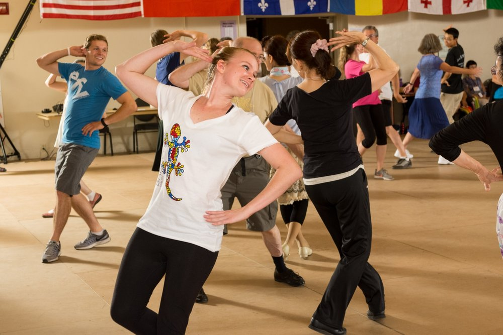 Learn and celebrate folk dances from around the world at Stockton Folk Dance Camp.   Attend