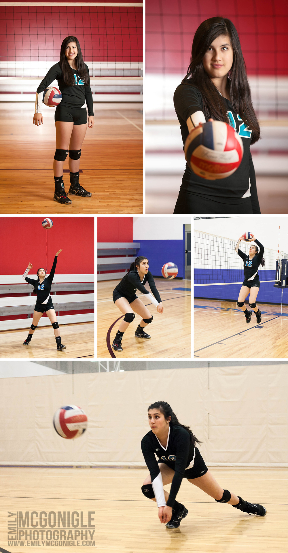 Action volleyball player girl