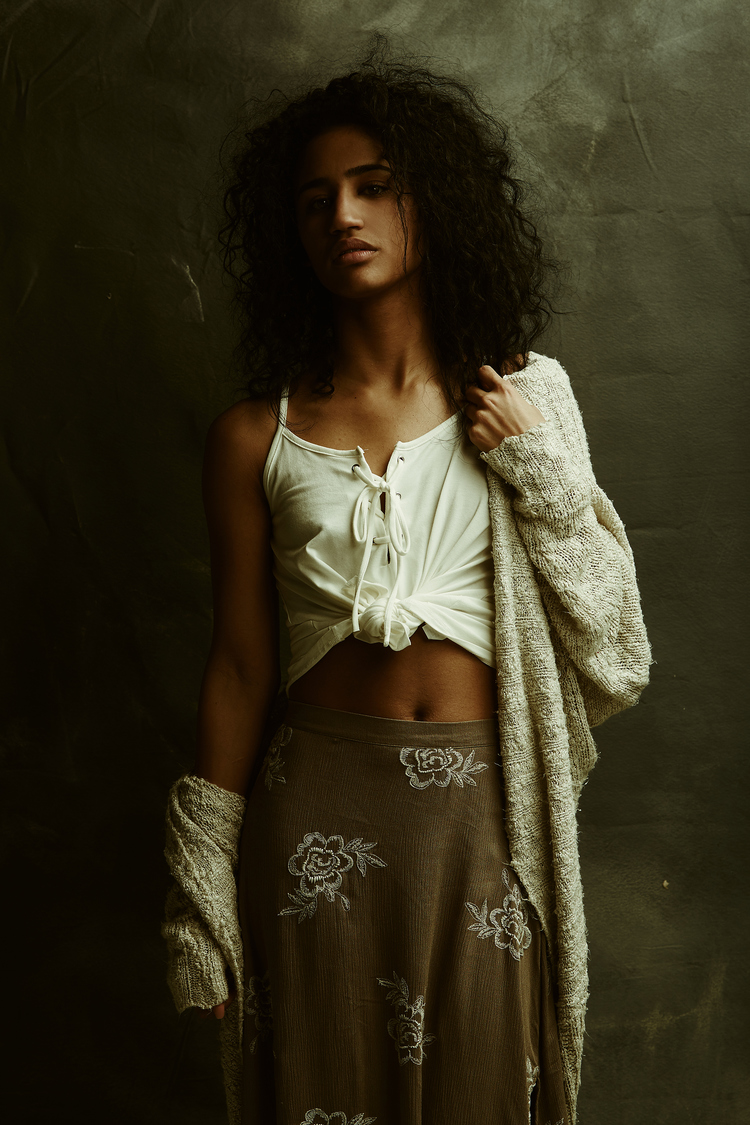 Photography by Matthew Simmons | Top & Skirt: Molly Green