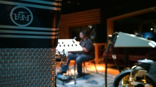 A shot from the Quartet Plus Recording Session at 25th Street Recording in Oakland