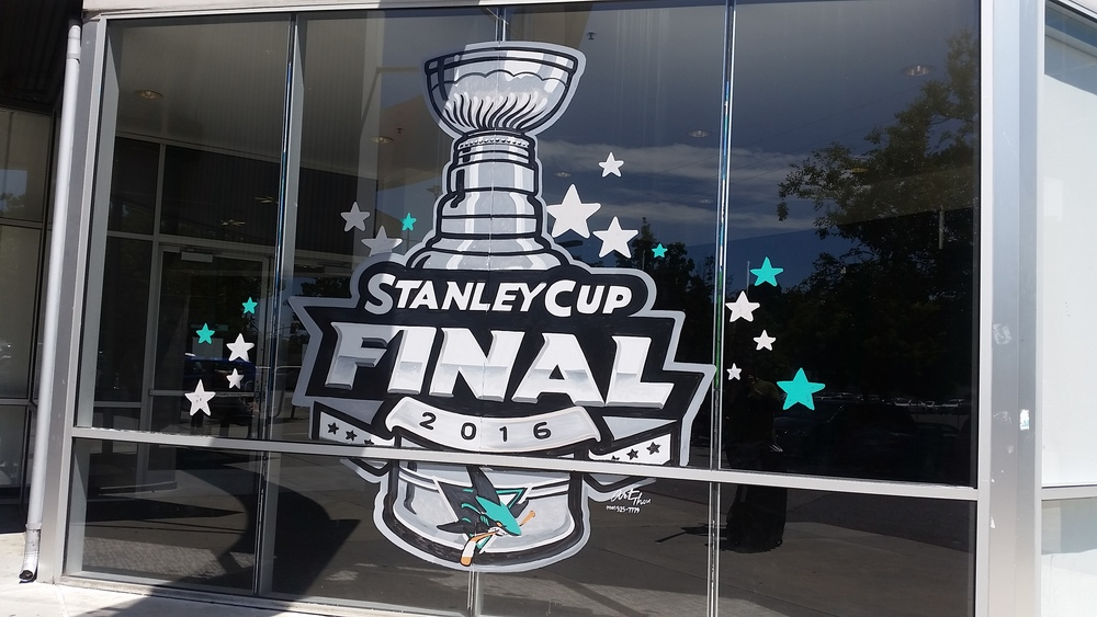 Main window at Sharks Ice in San Jose (Sharks practice space and public facility)