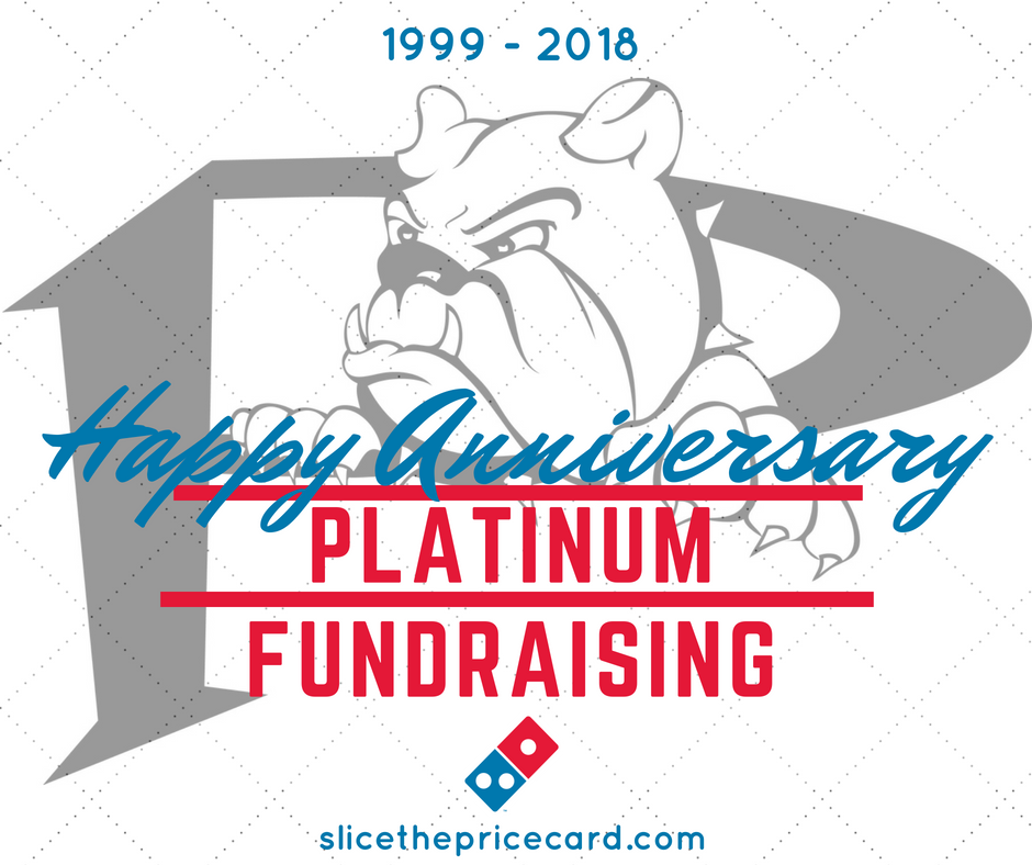 8a5f231e67d Platinum Fundraising is proud to announce the commencement of our 20th year  changing lives one pizza card at a time! Developed and spearheaded by  founder ...