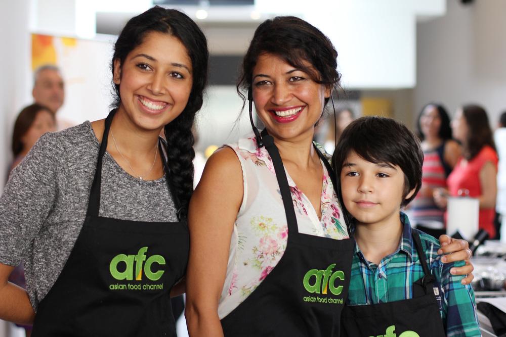 Chef Bal Arneson and her 2 beautiful children – Anoop & Aaron.