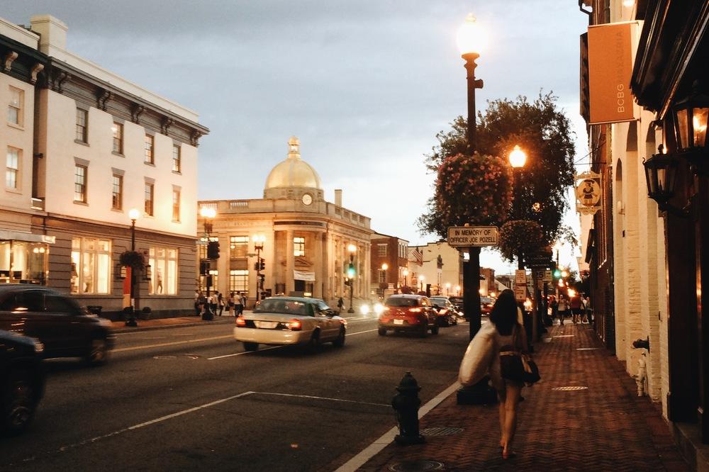 Georgetown before nightfall.