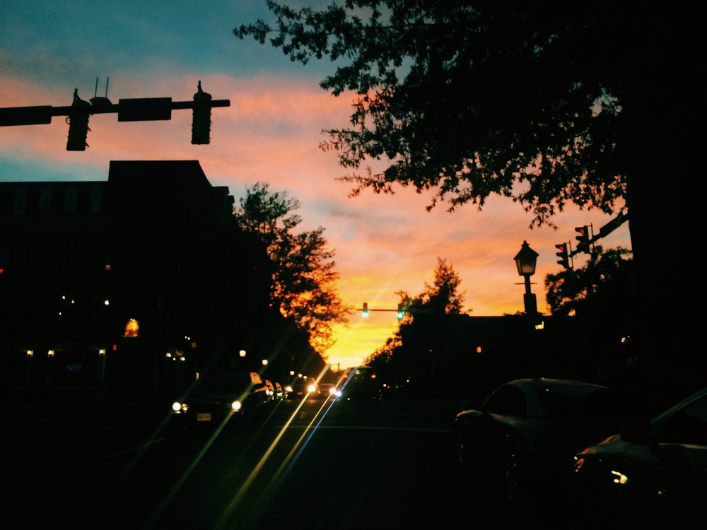 King Street after work, the sky is so beautiful I can't even.