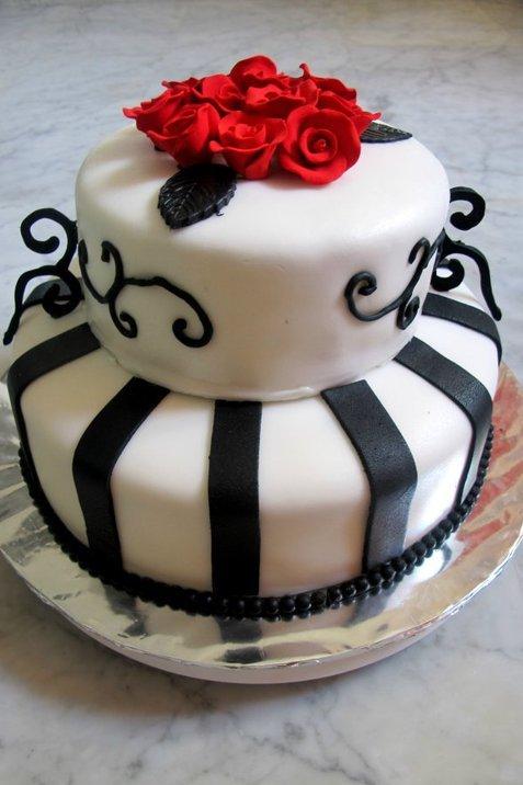 2010. My very first fondant cake.