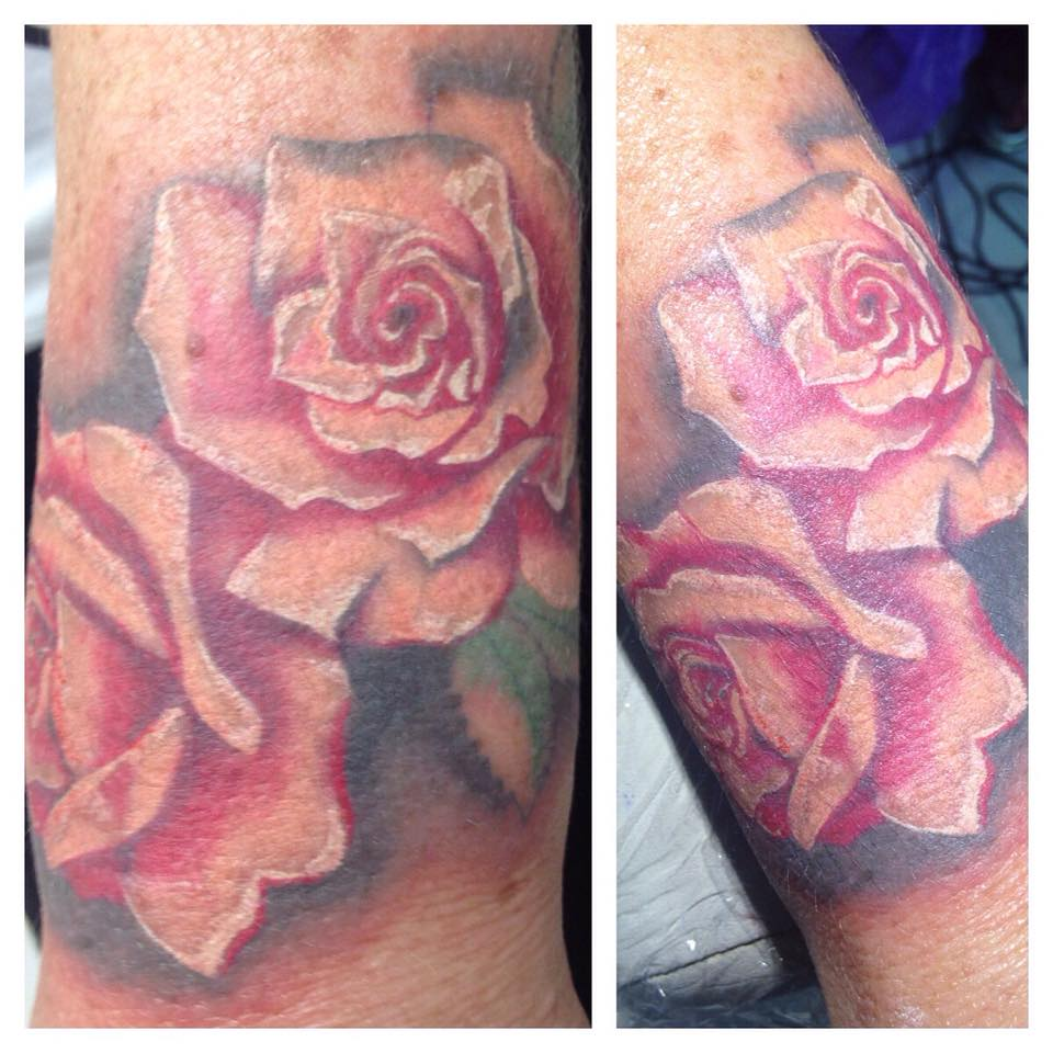Rose Tatto Soft Hyper Realism - Stephanie Stiletto