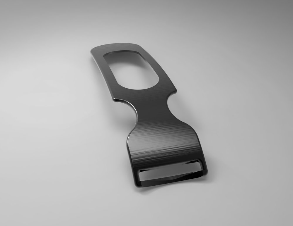 To accomplish the clean function, I designed a peeler out of a sheet of metal.The blade is within the body, so there are no more annoying details. -