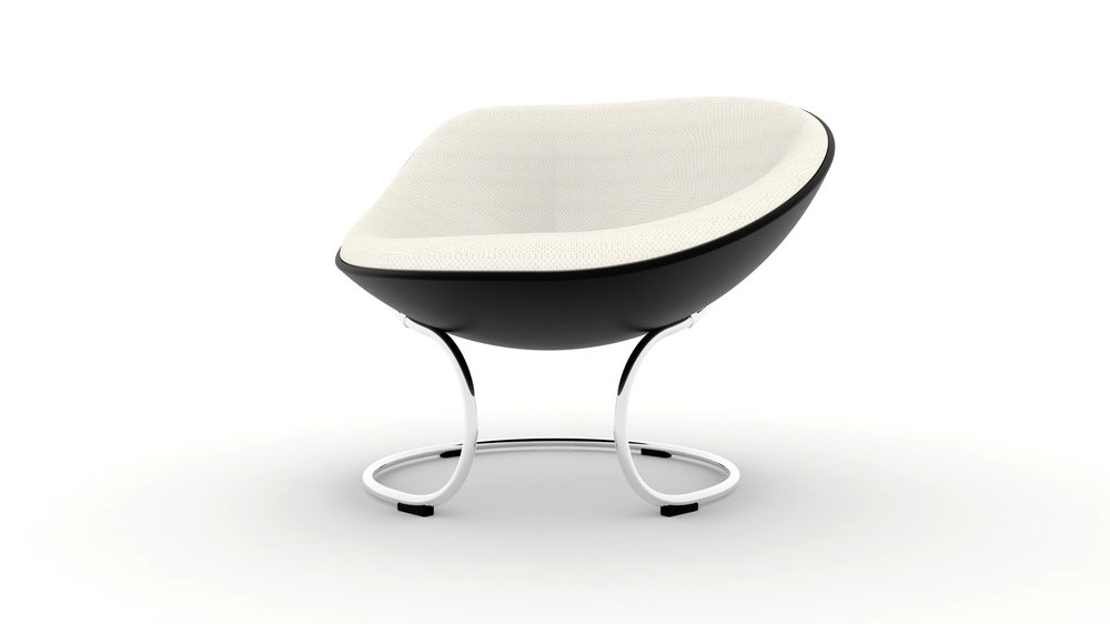 Owan :  A lounge chair that has an asymmetric curvy shape on its side. It allows users to relax and flexible on any postures and movements.