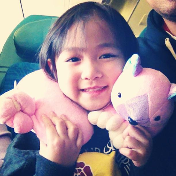 Lauren's first international flight ✈