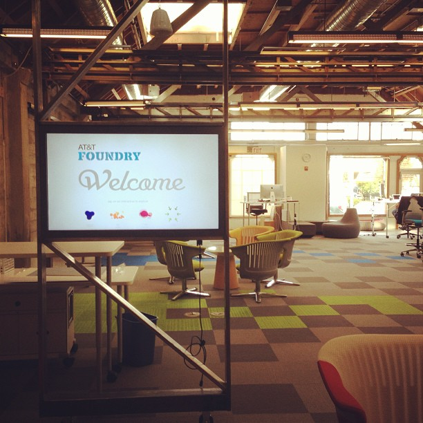 Visiting the AT&T Foundry today, loving the space. Reminds me of the good ol'days at Tellme.  #tellme #attfoundry