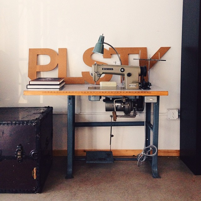 Our first in studio industrial sewing machine.