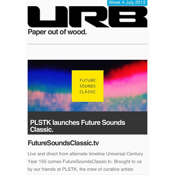 Thanks to our friends at URB for the support. Looking forward to building. Proud of team #plstk. On to the next phase of Future Sounds Classic, stay tuned.