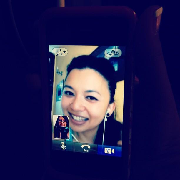 Mom chatting with Ninang Helena from Cambodia.
