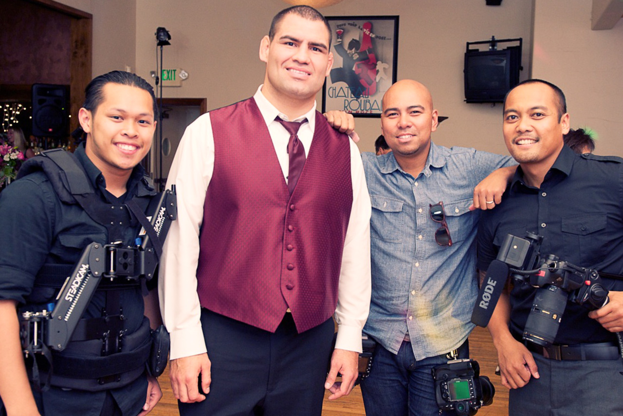 Ok, this probably has very little significance to you, and certainly your mom… but it is pretty damn exciting for me… shot a wedding yesterday and one of Robby's grooms men was UFC Heavy Weight Caine Velasquez… he was a super nice guy.