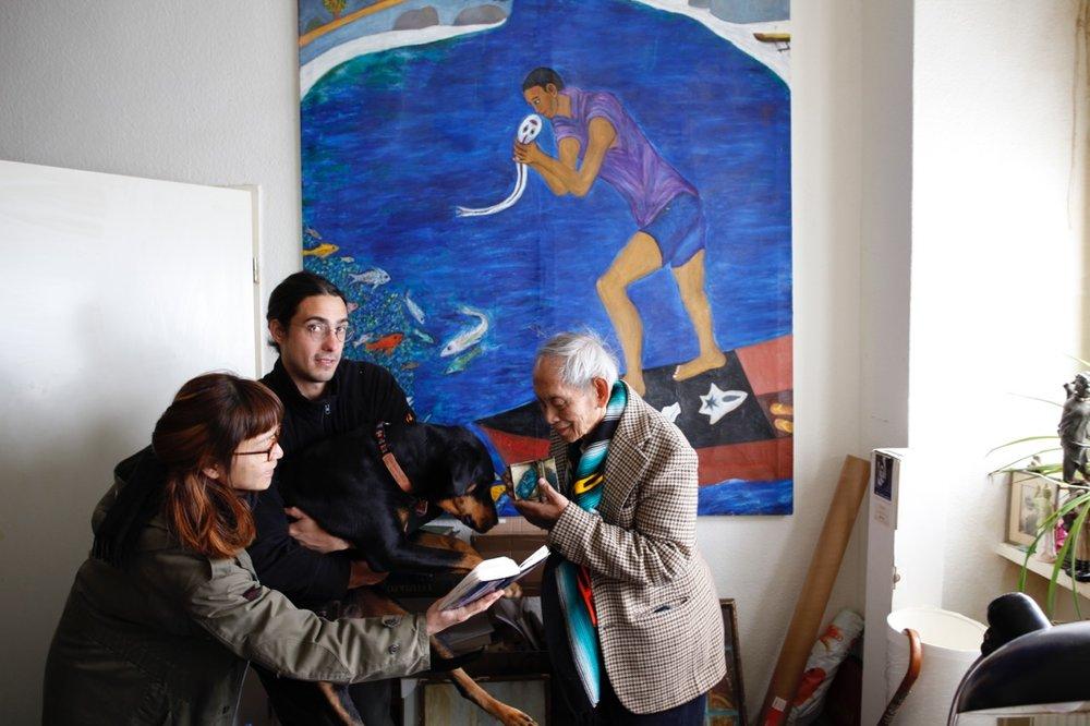 Christoph Both-Asmus with David Medalla, Chika Takabayashi and Malo at Another Vacant Space, Berlin