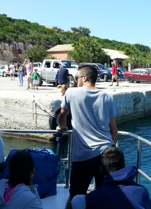 First all passengers leave the boat and enjoy there first minutes on the island.