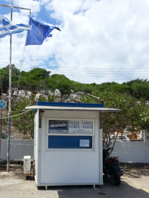 You can buy your tickets 30 minutes before departure at our little office directly at the port in Gaios but during busy times you might not get a ticket.