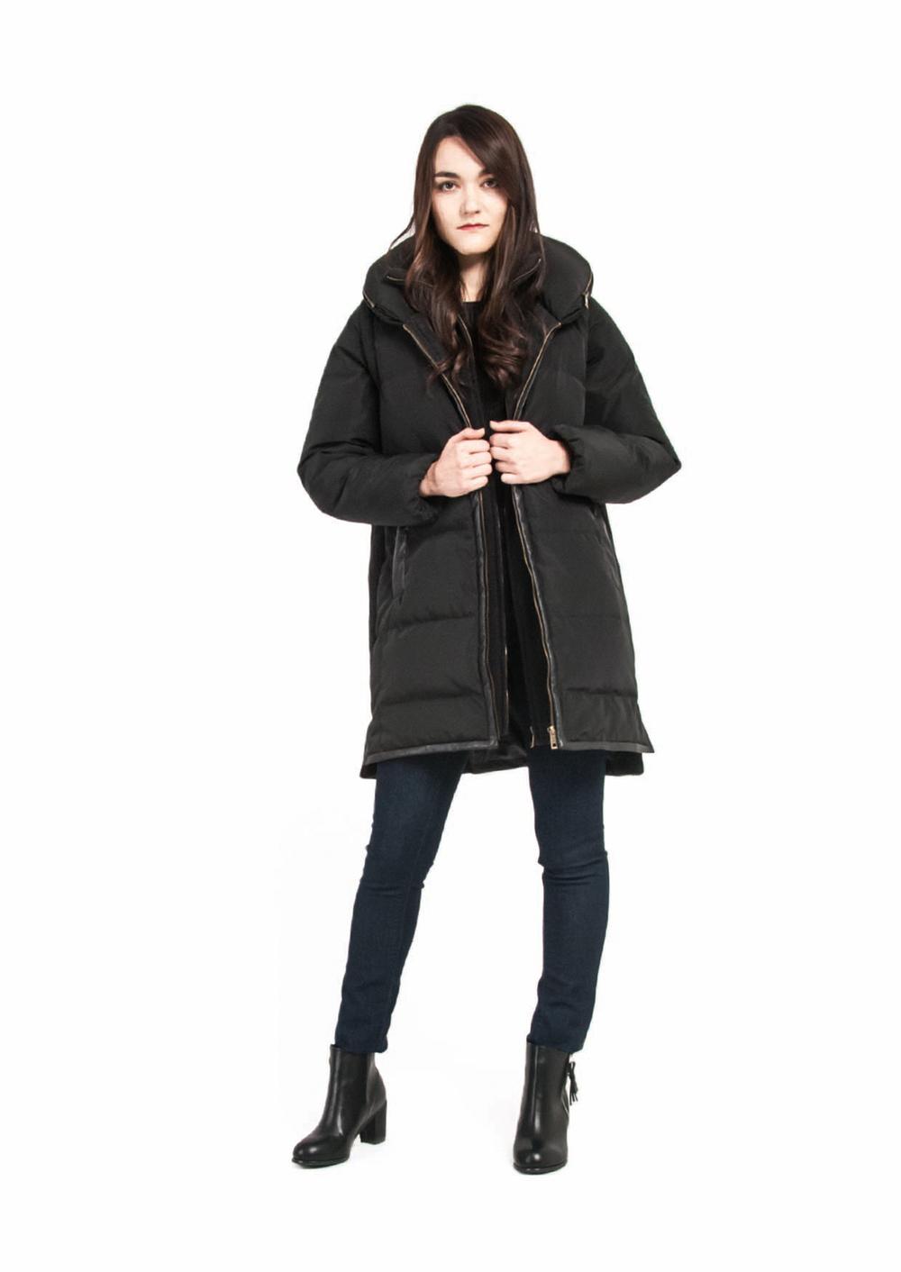 Half Wool Down Coat
