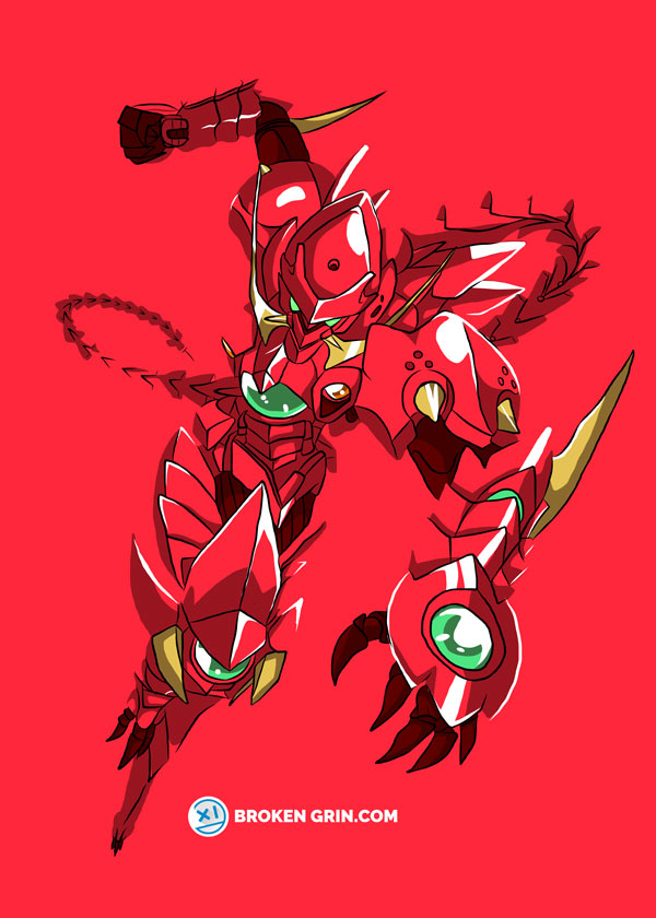 High School DxD Pop Art - Featuring The Red Dragon Armour