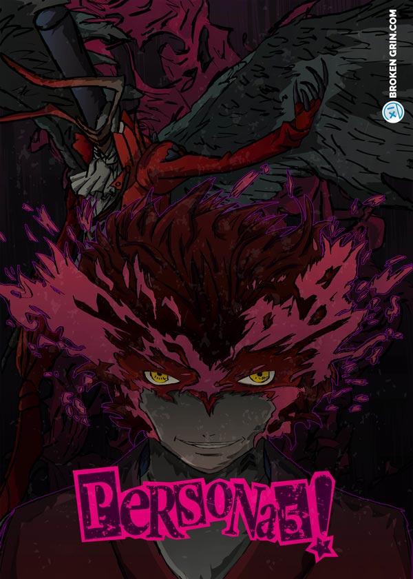 Persona 5 Retro Art - Featuring Protagonest