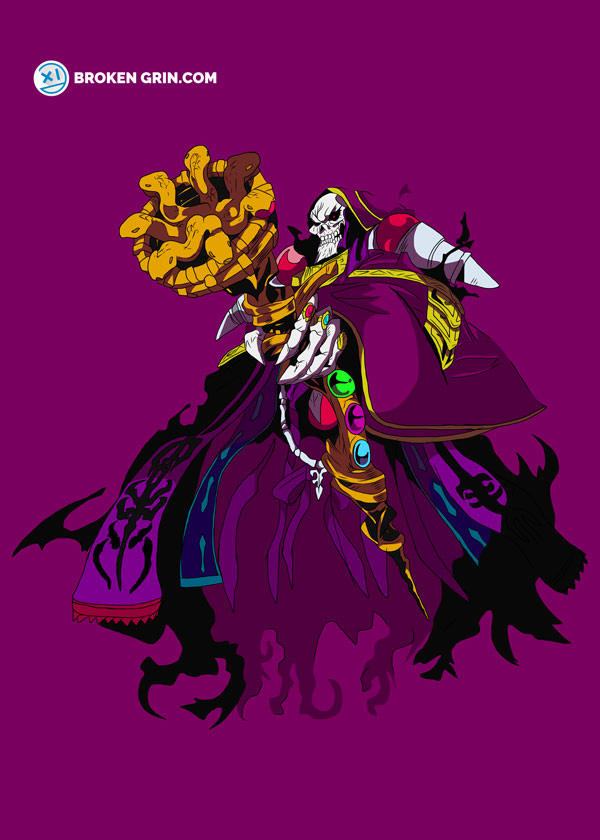Overlord Pop Art - Featuring Ainz Ooal Gown