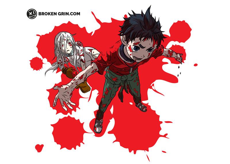 Deadman Wonderland Pop Art - Featuring Ganta and Shiro