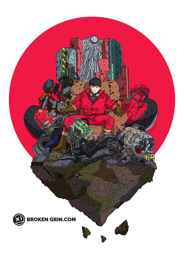 Akira Pop Art - Featuring Kaneda and his sweet bik.... oh.